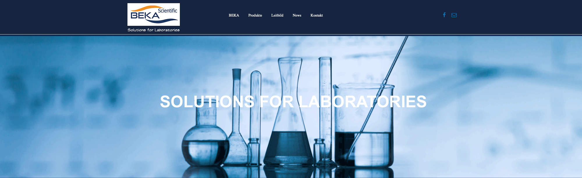Webdesign von Beka-Scientific